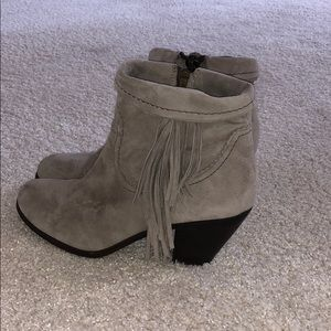 Sam Edelman Gray Suede Heel Booties